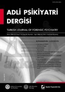 Adli Psikiyatri Dergisi – Cilt:3 Sayı:2 Nisan 2006
