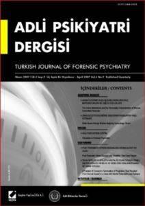 Adli Psikiyatri Dergisi – Cilt:4 Sayı:2 Nisan 2007