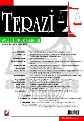 Terazi Aylık Hukuk Dergisi Sayı:15 Kasım 2007