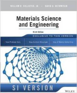 Materials Science<br/>Eng Si 9E Wıe