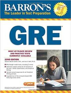 Barron's GRE (22Nd Ed.) With Bonus Online Tests