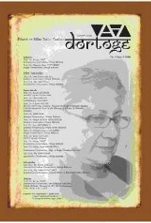 Dörtöğe Felsefe Ve Bilim Tarihi Yazıları Hakemli Dergi; Yıl 4 Sayı 9
