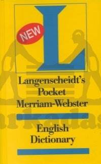 Langenscheidt's Pocket Merriam-Webster English Dic