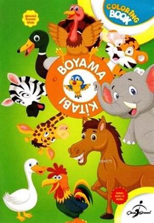 Boyama Kitabı Yeşil Hayvanlar - Aktiviteli Boyama Serisi