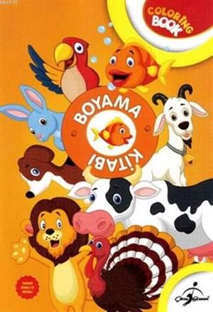 Boyama Kitabı Turuncu Hayvanlar - Aktiviteli Boyama Serisi