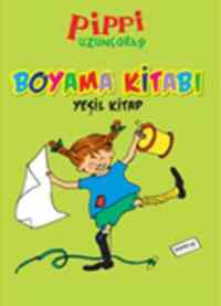 Pippi Uzunçorap Boyama Kitabı Yeşil Kitap