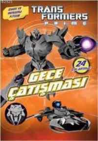Transformers Prime Gece Çatışması-Oyun Ve Boyama Kitabı
