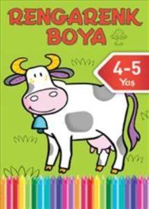 Rengarenk Boya 4-5 Yaş Yeşil Kitap