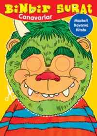 Binbir Surat Canavarlar Maskeli Boyama Kitabı