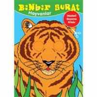Binbir Surat Hayvanlar (Maskeli Boyama Kitabı)