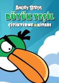 Angry Birds Büyük Yeşil Çiziktirme Kitabı