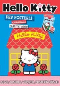 Dev Posterli Çıkartmalı Faaliyet Dizisi Hello Kitty