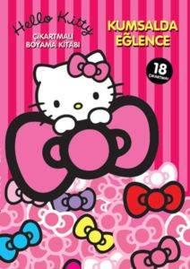 Hello Kitty - Kumsalda Eğlence Çıkartmalı Boyama Kitabı