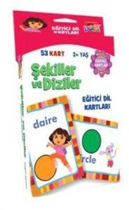 Dora Şekiller ve Diziler Eğitici Dil Kartları