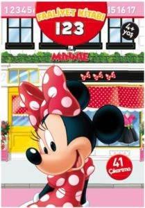 Disney Minnie 123 Çıkartmalı Faliyet Kitabı