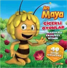 Arı Maya Çiçekli Oyunlar Çıkartmalı Faaliyet Kitabı