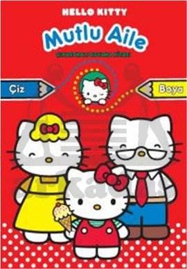 Hello Kitty Mutlu Aile Çıkartmalı Boyama