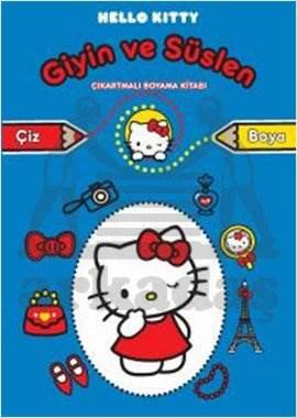 Hello Kitty Giyin ve Süslen Çıkartmalı Boyama Kitabı