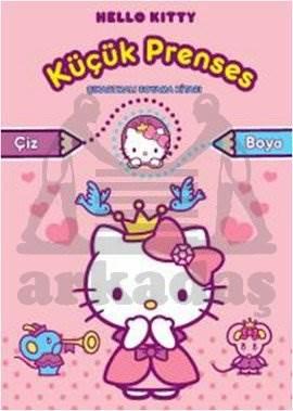 Hello Kitty Küçük Prenses Çıkartmalı Boyama