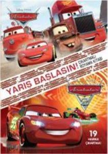 Disney Arabalar Yarış Başlasın Çıkartmalı Boyama Kitabı