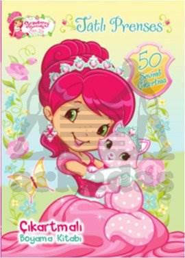Çilek Kız Tatlı Prenses Çıkartmalı Boyama