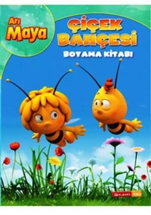 Arı Maya Çiçek Bahçesi Boyama Kitabı