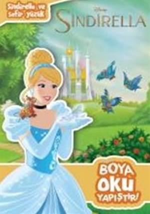 Disney Sindirella ve Safir Yüzük Boya Oku Yapıştır