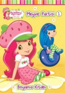 Çilek Kız Meyve Partisi-1 Boyama Kitabı