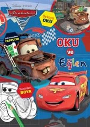 Disney Arabalar Çıkartmalı Faaliyet Kitabı Bas Gaza