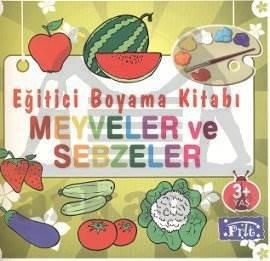 Eğitici Boyam Kitabı - Meyveler ve Sebzeler
