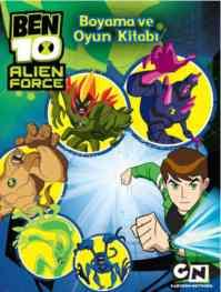 Ben 10 Alien Force Boyama Oyun Kitabı