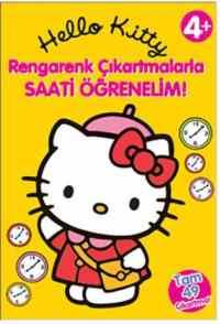 Hello Kitty Rengarenk Çıkartmalarla Saati Öğrenelim
