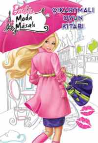 Barbie Moda Masalı Çıkartmalaı Boyama Kitabı-1