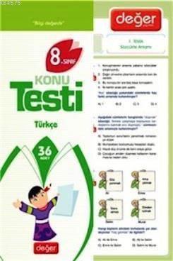 8. Sınıf Türkçe Konu Testi