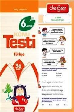 6. Sınıf Türkçe Konu Testi