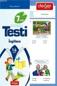 7. Sınıf İngilizce Konu Testi