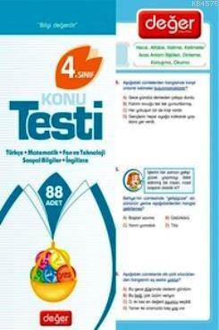 4. Sınıf Konu Testi Tüm Dersler