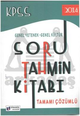 2014 KPSS Soru Tahmin Kitabı Genel Yetenek Genel Kültür Tamamı Çözümlü