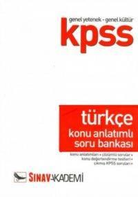KPSS Genel Yetenek Genel Kültür Türkçe Konu Anlatımlı Soru Bankası