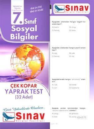 7.Sınıf Sosyal Bilgiler Yaprak Test (32 Test)