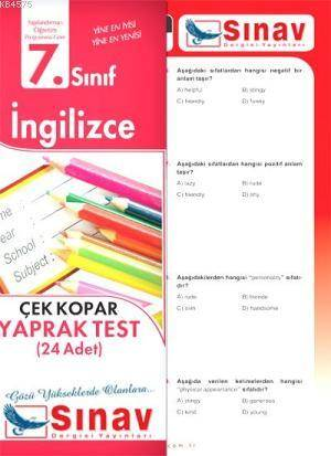 7.Sınıf İngilizce Yaprak Test (24 Test)