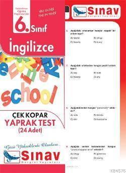 6.Sınıf İngilizce Yaprak Test (24 Test)