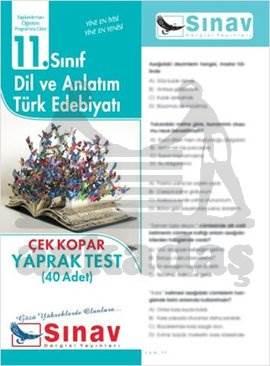 11.Sınıf Dil Ve Anlatım-Türk Edebiyatı Yaprak Test (40 Test)