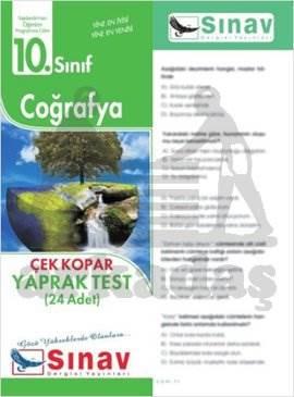 10.Sınıf Coğrafya Yaprak Test (24 Test)