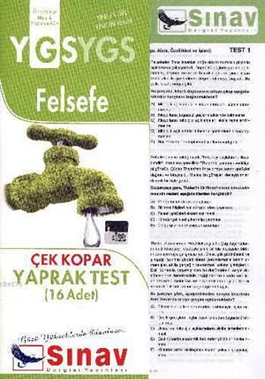Ygs Felsefe Yaprak Test (16 Test)