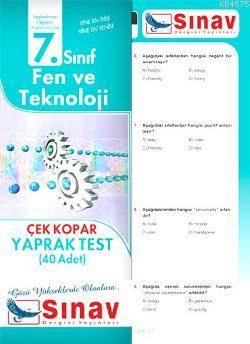 7. Sınıf Fen Ve Teknoloji Yaprak Test (40 Adet)