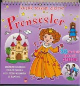 Şablonlu Çiz-Boya Prensesler