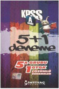 İhtiyaç KPSS A Grubu 5+1 Çözümlü Deneme 2013