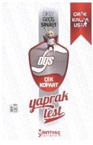 İhtiyaç DGS Çek Kopart Yaprak Test 2014
