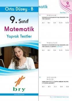 9.Sınıf Matematik Yaprak Test Orta Düzey B.